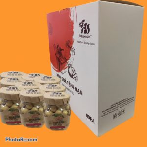 GIFT SET WITH 9 JARS OF DRIED LOTUS SEEDS 60g